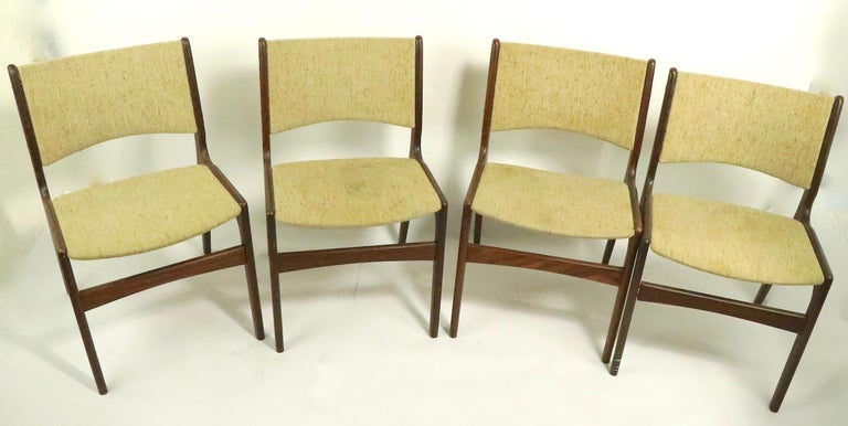 20th Century 4 Danish Modern Dining Chairs by Odense Maskinsnedkeri For Sale