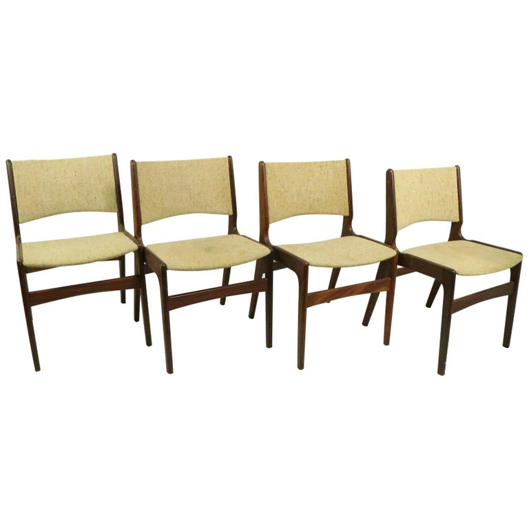 4 Danish Modern Dining Chairs by Odense Maskinsnedkeri For Sale