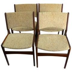 4 Danish Modern Dining Chairs by Erik Buch for Odense Maskinsnedkeri