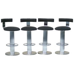 4 Design Designs For Leisure Chrome Steel Bar Counter Stools