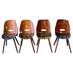 "4 Dining Room Chairs, ""Es Wird Schon"", Out of the Black Is Beautiful Series"