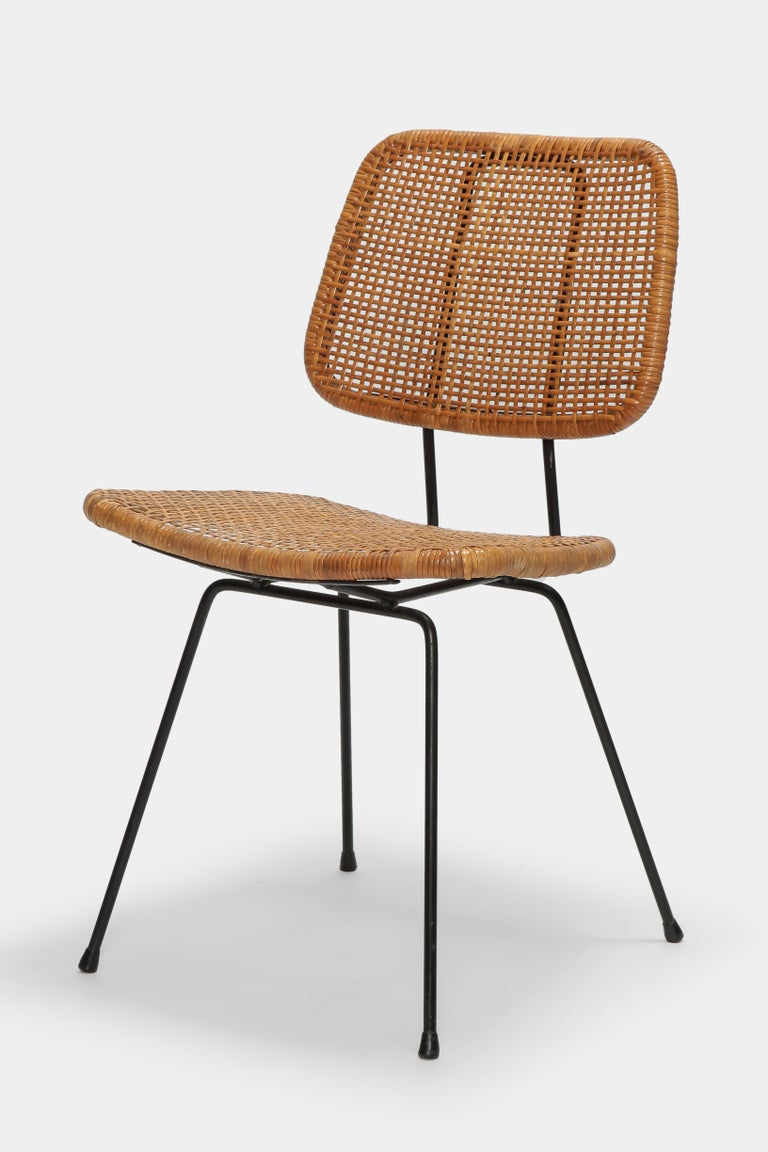 Mid-20th Century 4 Dirk Van Sliedregt Chairs 550 Rohé Noordwolde, 1950s For Sale