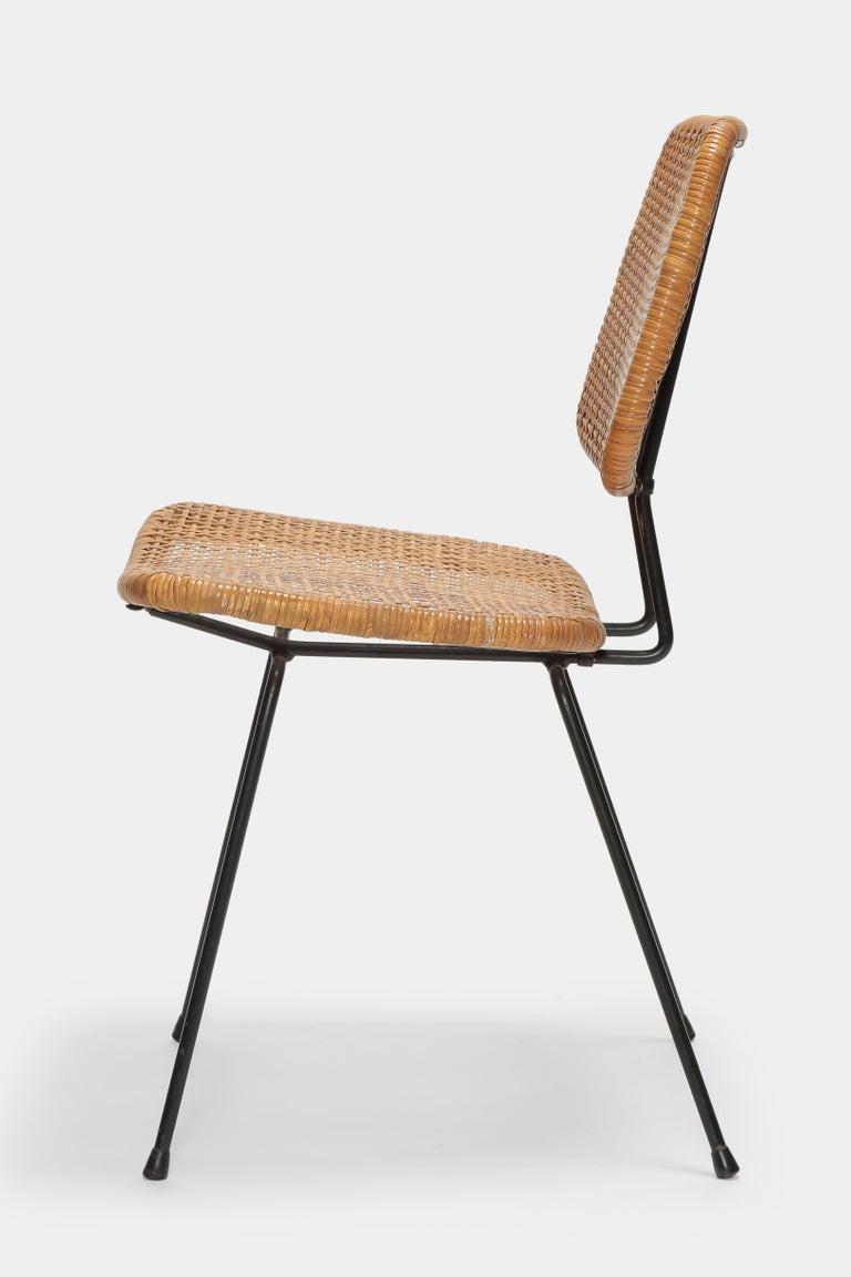 Metal 4 Dirk Van Sliedregt Chairs 550 Rohé Noordwolde, 1950s For Sale