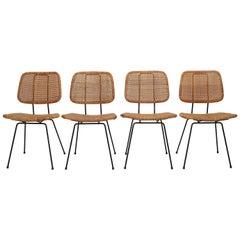 4 Dirk Van Sliedregt Chairs 550 Rohé Noordwolde, 1950s