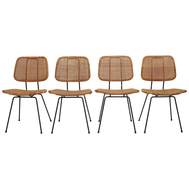 4 Dirk Van Sliedregt Chairs 550 Rohé Noordwolde, 1950s For Sale