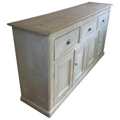 4-Door, 3-Drawer English Base with Scrubbed Top