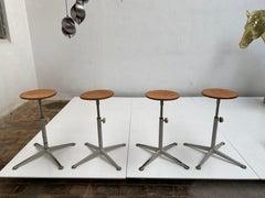 4 drafting stools by friso kramer for arend de cirkel