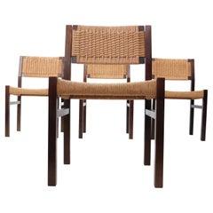 4 Dutch Design Dining Chairs Martin Visser Mid-Century Modern, 1960's