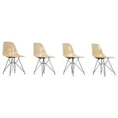 4 Eiffel Base Side Chair by Charles & Ray Eames for Herman Miller
