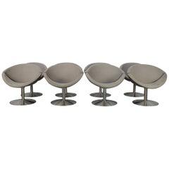 "4 Erik Jorgensen ""Apollo"" EJ 96 Armchairs Chairs in Mid-Grey Alcantara"