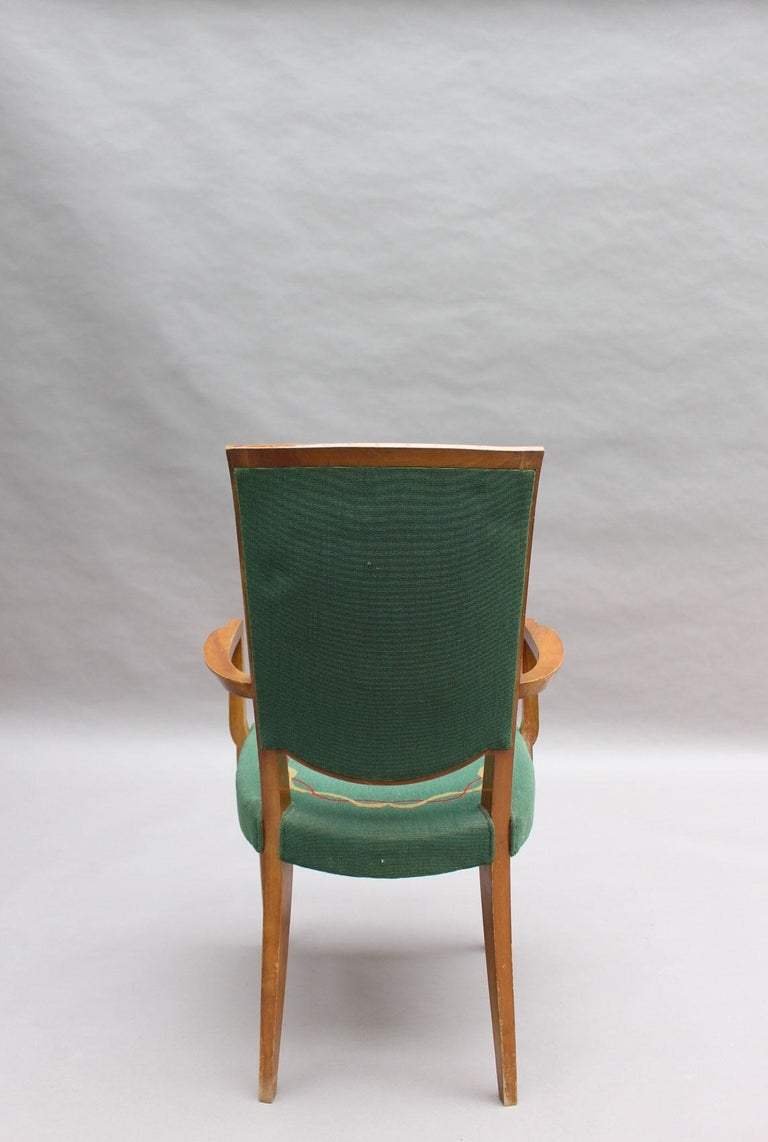 4 Fine French Art Deco Armchairs by Jules Leleu For Sale 5