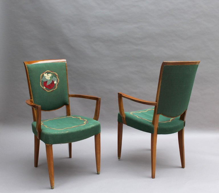 4 Fine French Art Deco Armchairs by Jules Leleu In Good Condition For Sale In Long Island City, NY