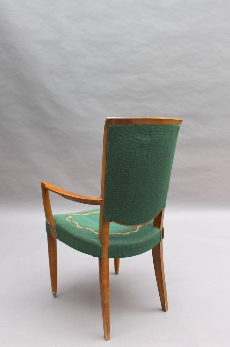 4 Fine French Art Deco Armchairs by Jules Leleu For Sale 4