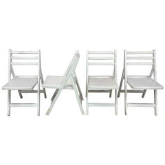 4 French Folding Chairs, circa 1950-1960