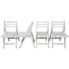 4 French Folding Chairs, circa 1950-1960