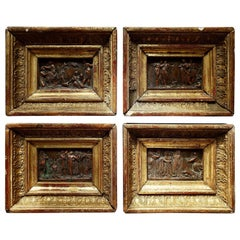 4 French Miniature Reliefs