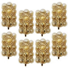 4 Glass Wall Lights Sconces by Helena Tynell for Glashütte, 1960