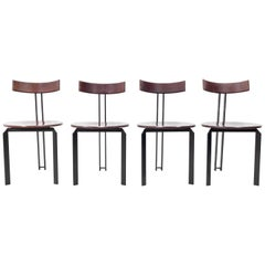 4 Harvink Zeta Dining Chairs, 1980s