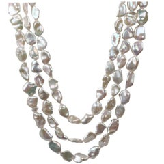 4 in 1 baroque pear-shaped Thaithian pearls necklaces by Cristina Ramella