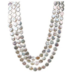 4 in 1 barroque Thaitian pearls necklaces by Cristina Ramella