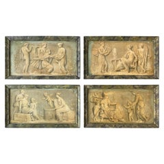 4 Italian 19th Century Classical Oil Paintings