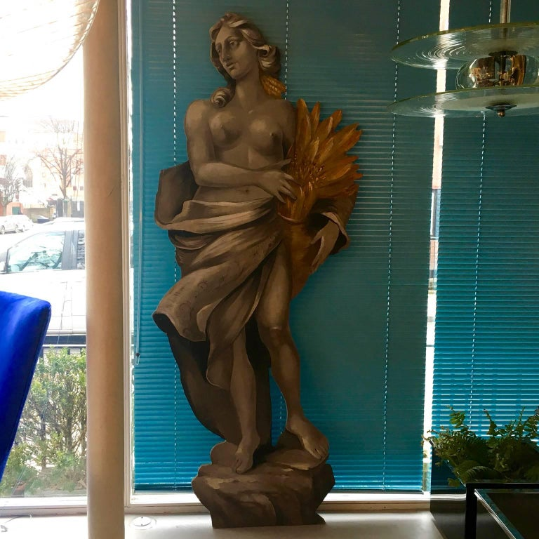 Four Large Italian Theatrical Props or Paintings of Classical Figures In Fair Condition For Sale In London, GB