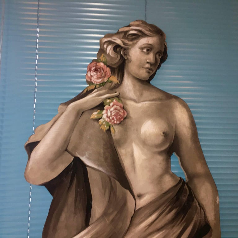 20th Century Four Large Italian Theatrical Props or Paintings of Classical Figures For Sale
