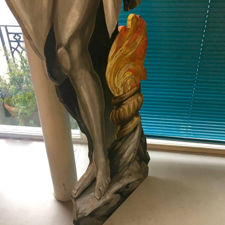 Four Large Italian Theatrical Props or Paintings of Classical Figures For Sale 2