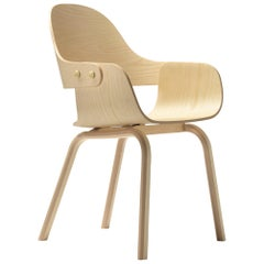 4 leg chair in natural ash by Jaime Hayon model Showtime Nude