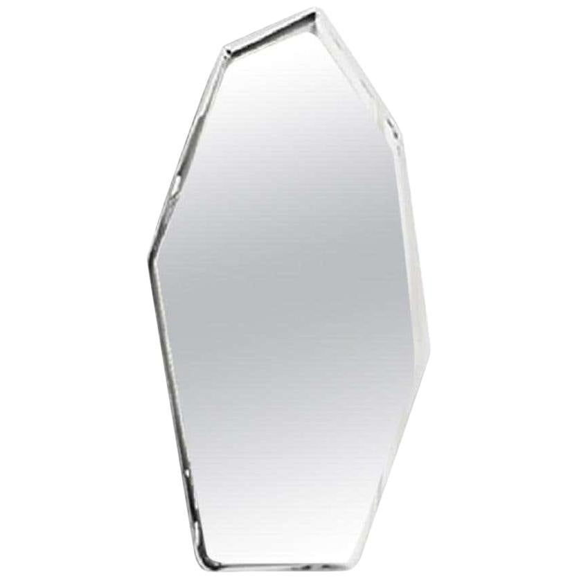 4, Limited Edition Tall Polished Stainless Steel Wall Mirror