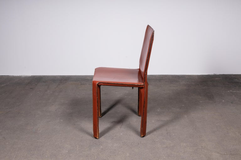Italian Mario Bellini CAB 412 Chairs in Cognac Leather for Cassina For Sale