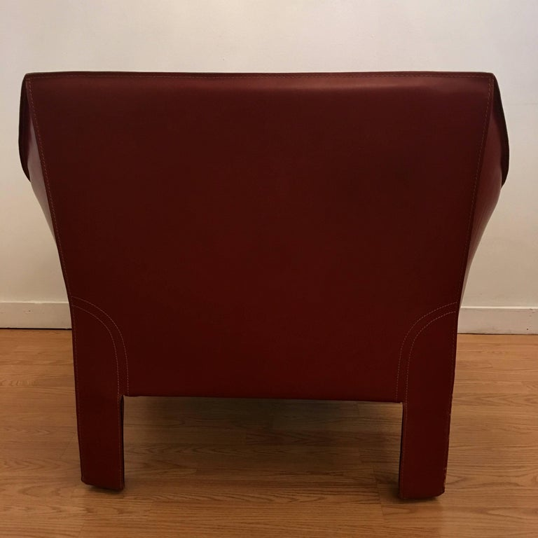 Italian Four Mario Bellini Cassina Cab Lounge Chair For Sale