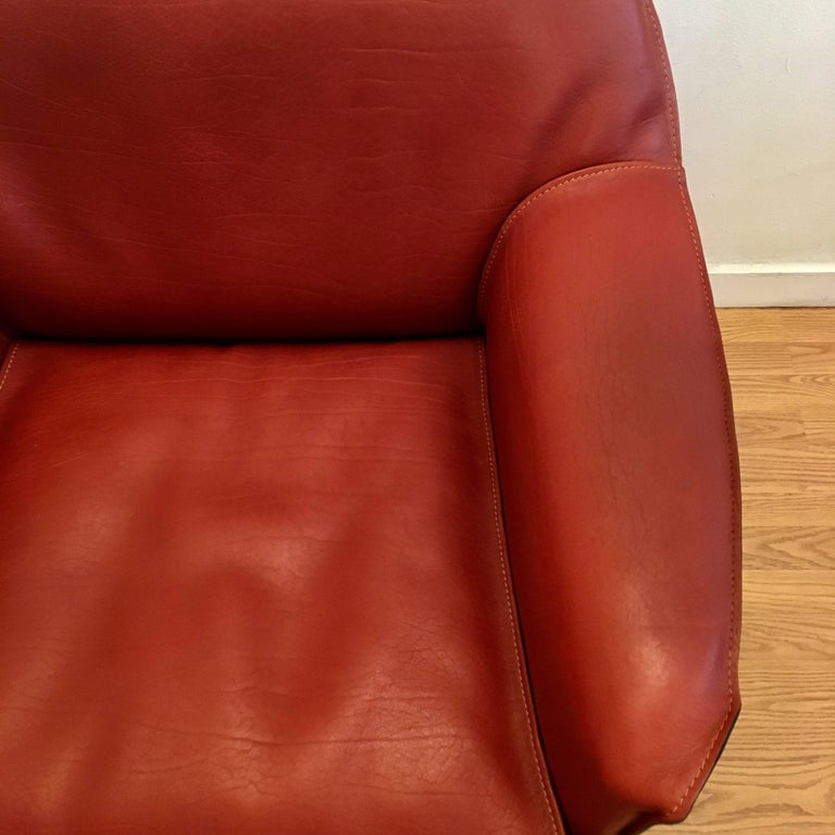 Late 20th Century Four Mario Bellini Cassina Cab Lounge Chair For Sale