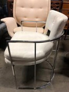 4 Mid-Century Chrome Milo Baughman Dining Chairs