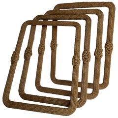 4 Mid-Century Modern Nautical Maritime Rope Knot Mirrors
