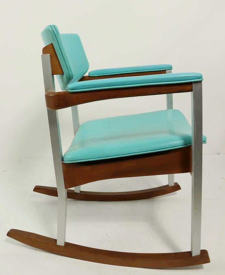 4 Mid Century Rocking Chairs by Thonet For Sale 4
