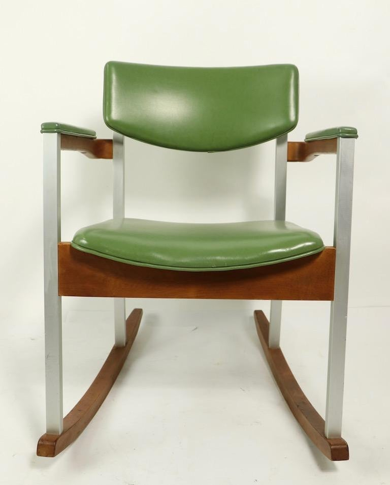 4 Mid Century Rocking Chairs by Thonet For Sale 9