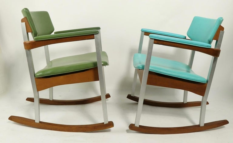 4 Mid Century Rocking Chairs by Thonet For Sale 10