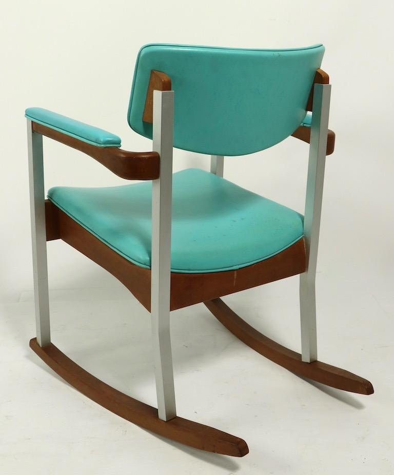 4 Mid Century Rocking Chairs by Thonet For Sale 1