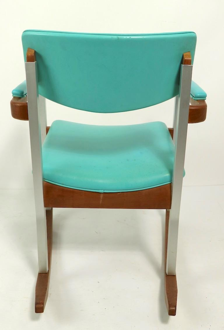 4 Mid Century Rocking Chairs by Thonet For Sale 2