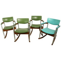 4 Mid Century Rocking Chairs by Thonet