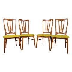 4 Midcentury Danish Modern Teak Dining Ingrid Chairs by Koefoeds Hornslet