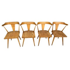 4 Midcentury Paul McCobb Planner Group Dining Chairs Maple Arm Chairs