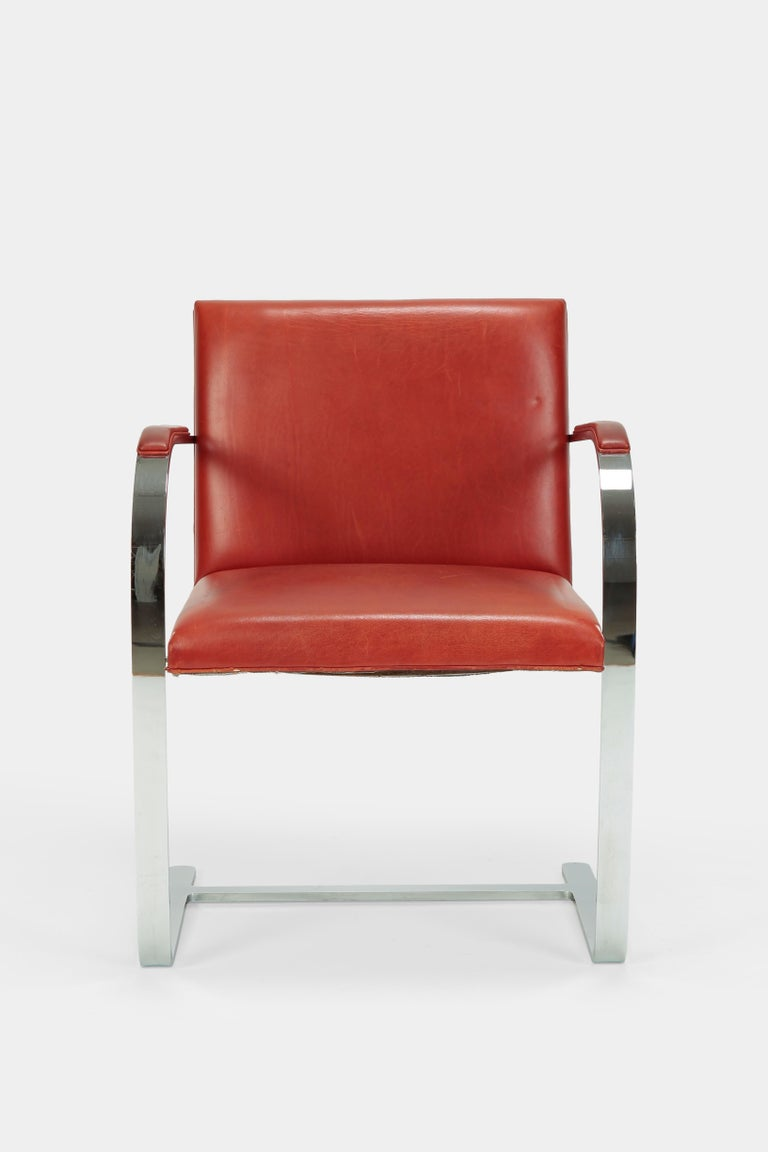 4 Mies Van der Rohe Brno Chairs Knoll Int, 1960s For Sale 3