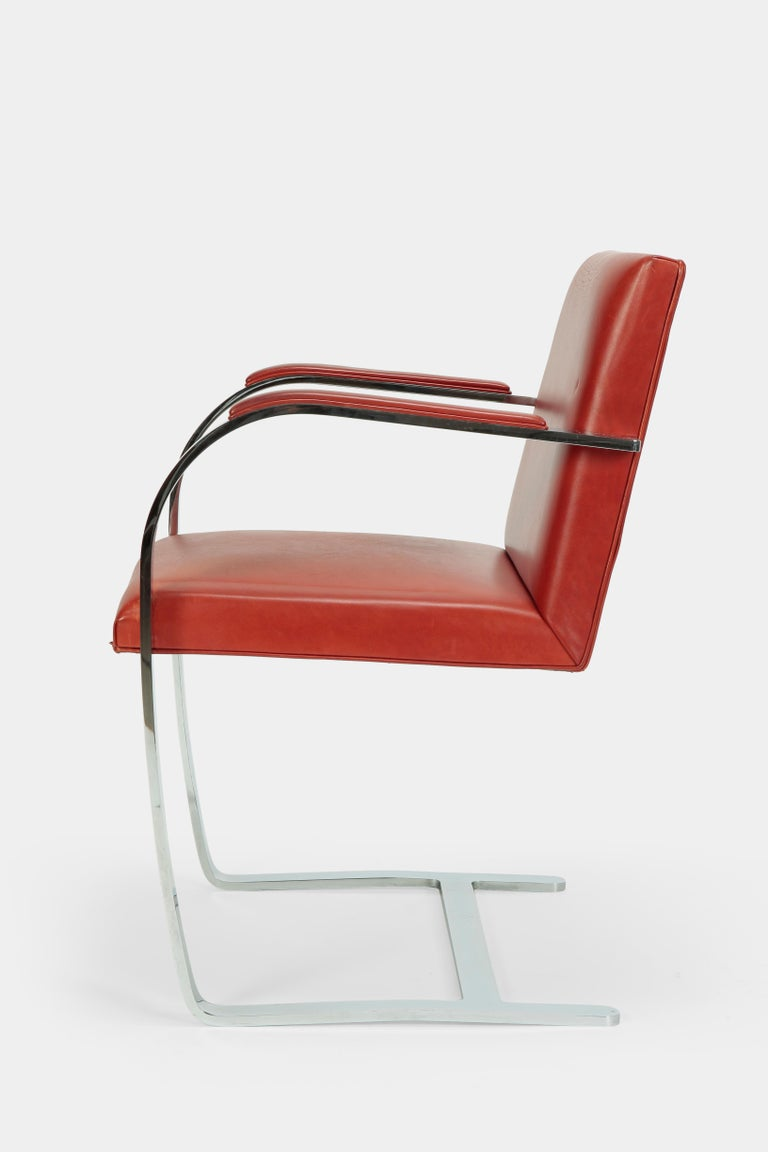 4 Mies Van der Rohe Brno Chairs Knoll Int, 1960s For Sale 4