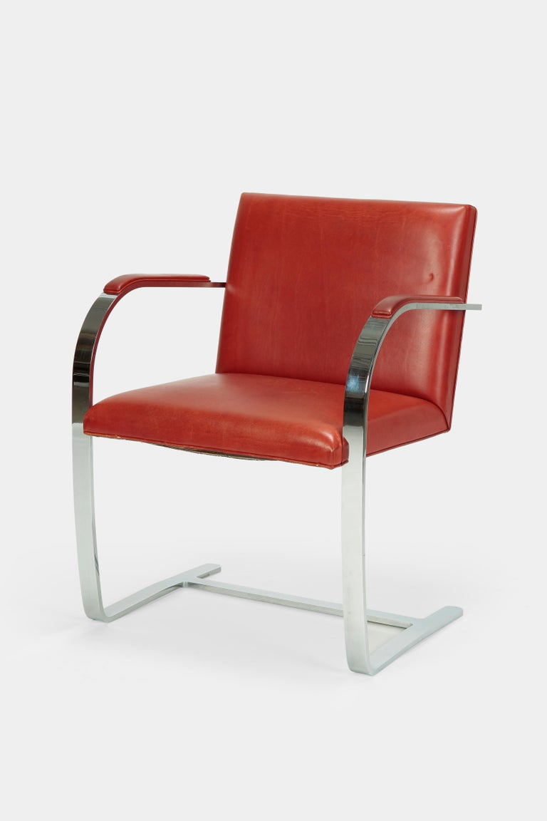 4 Mies Van der Rohe Brno Chairs Knoll Int, 1960s For Sale 1