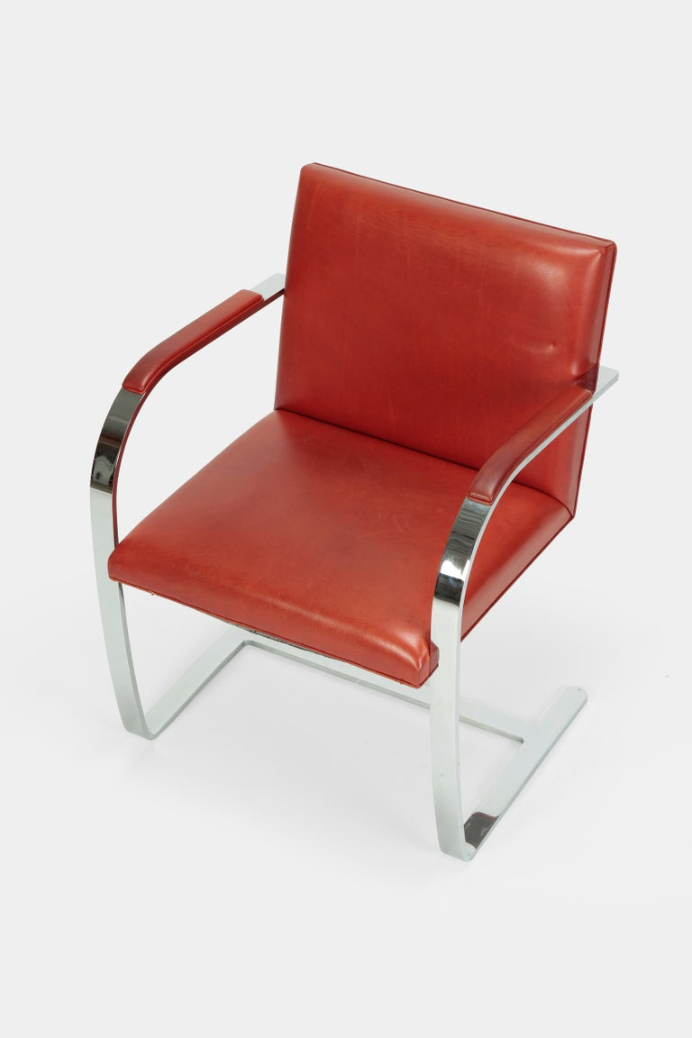 4 Mies Van der Rohe Brno Chairs Knoll Int, 1960s For Sale 2