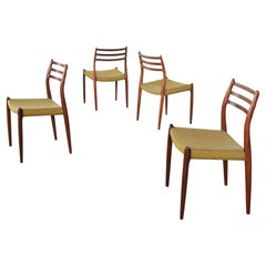 4 Model 78 Dining Chairs in Rosewood by Niels Otto Møller