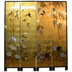 4-Panel Asian Room Divider