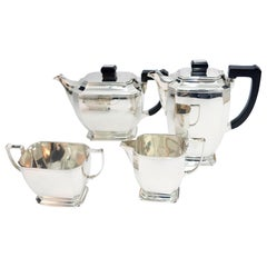4-Piece Art Deco Silver Tea and Coffee Service